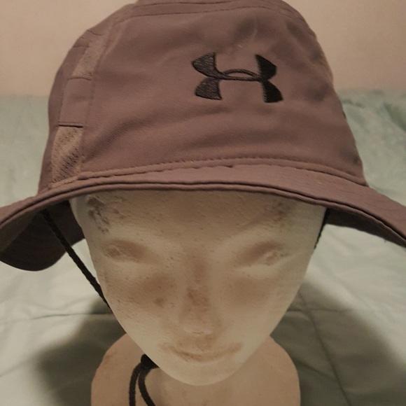 Under Armour Men s Warrior Bucket Hat Gray Black. M 5b17786a12cd4a34d92f7a01 d7f4f94afc1